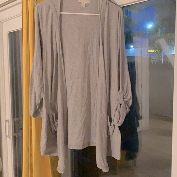 forever21 light  cotton jacket gray size 1x